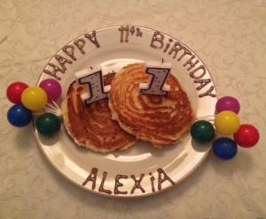 Happy Birthday pancakes